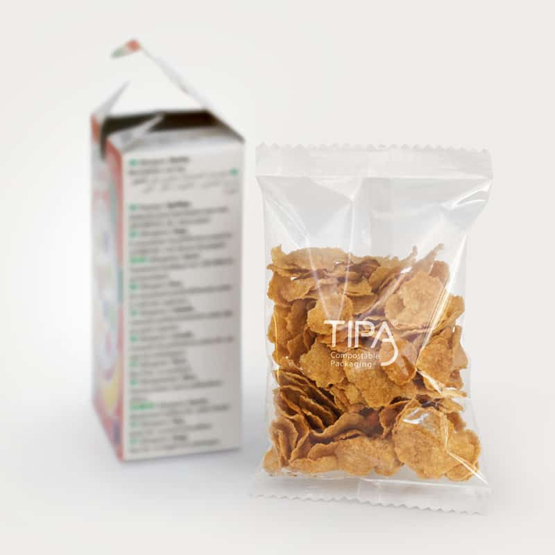 Tipa compostable cereal bag