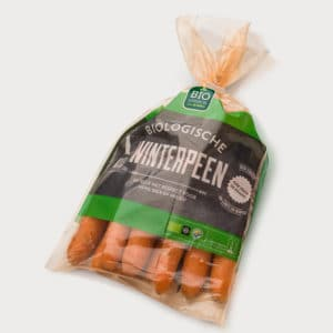 Carrots with TIPA's compostable packaging