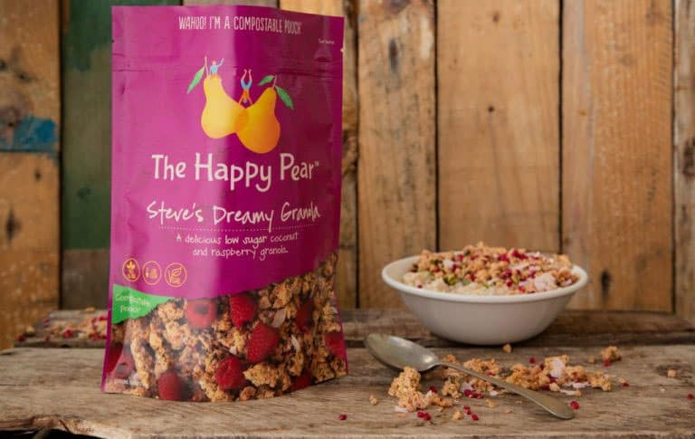 Fully compostable packaging designed and produced by TIPA®. Picture: The Happy Pear