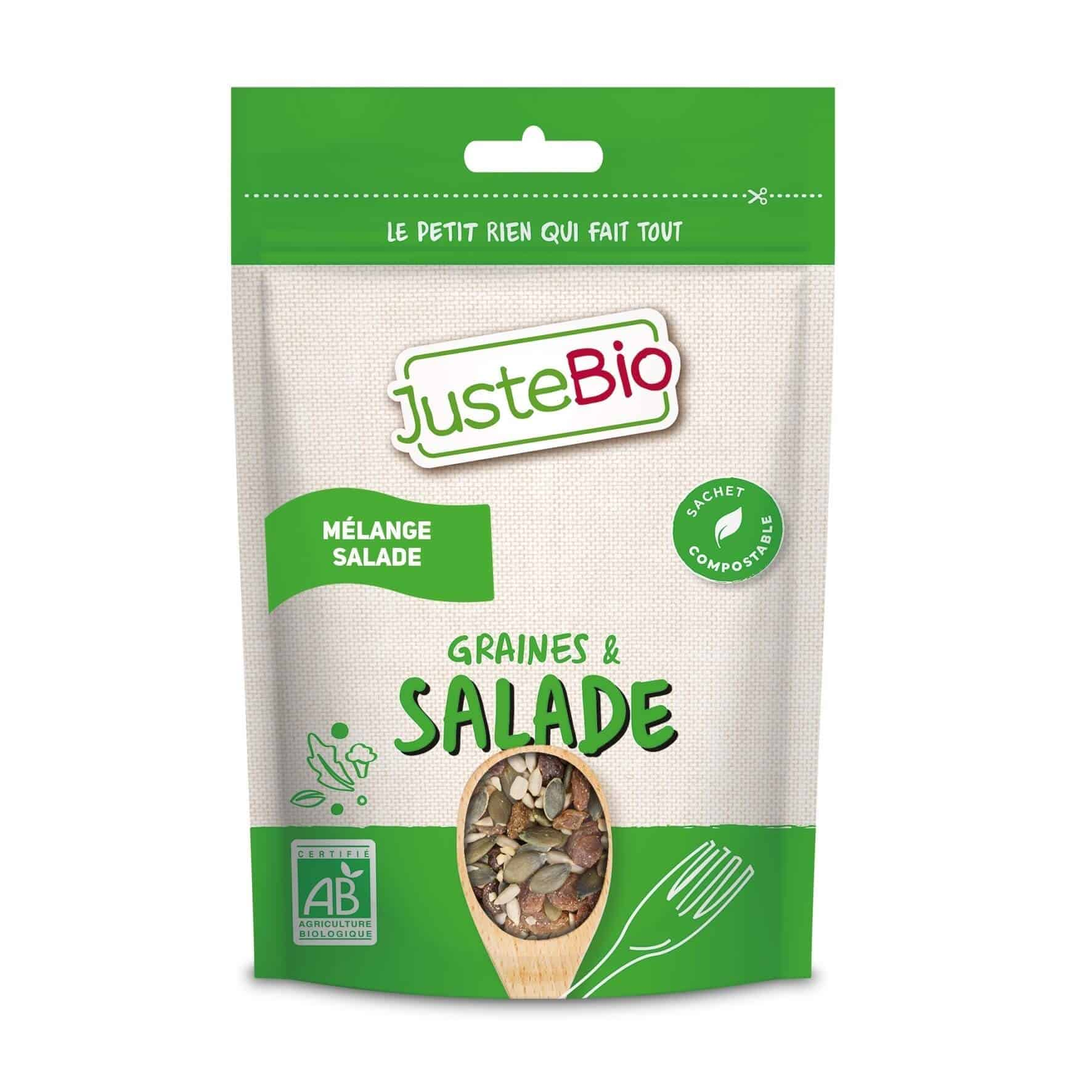 Justebio Pillow Bag GRAINES SALADE