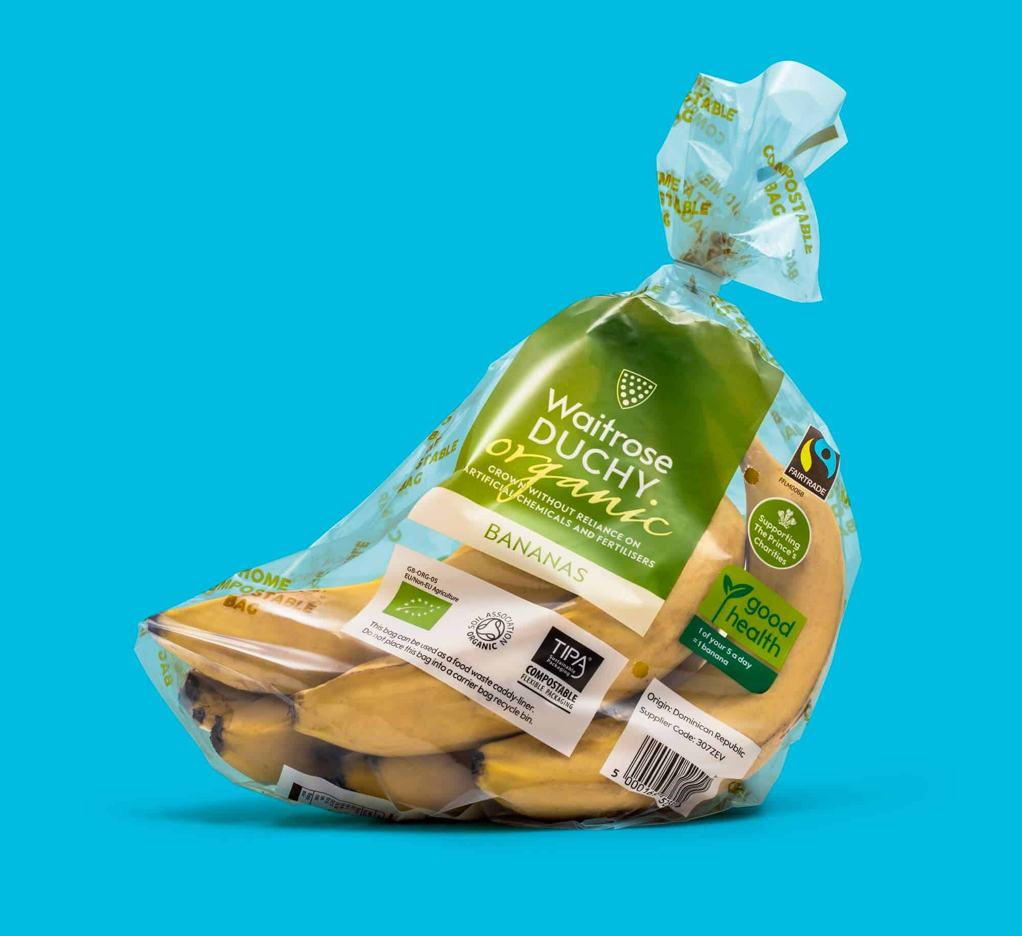 Waitrose Bananas Wicketed compostable Bag