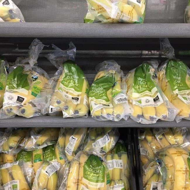 Waitrose Bananas Wicketed Compostable Bag in store